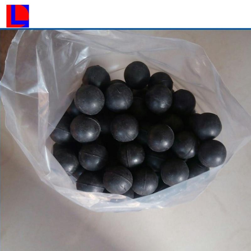Bolas de goma maciza de silicona color negro de 7mm.
