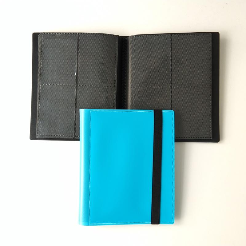 Color azul 4 bolsillos Tarjeta Pokémon Carpeta polivinílica Carga lateral