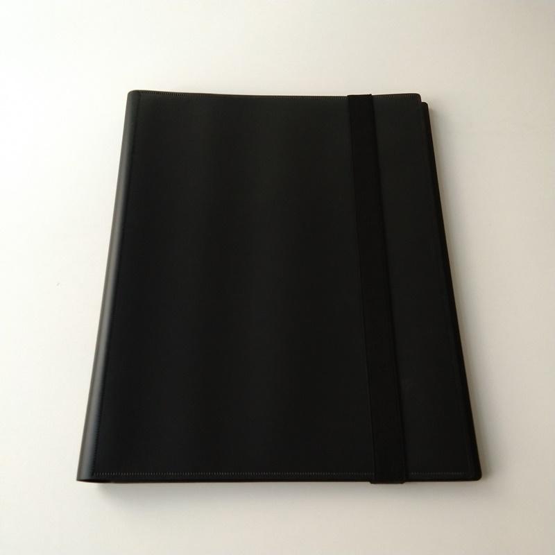 Álbumes de carpetas de tarjetas colectoras de Poly Black de 9 bolsillos para tarjetas MTG / YGO / Sport