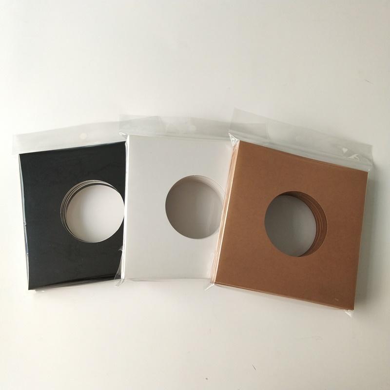 7 pulgadas 45 RPM 350gsm marrón chaqueta de registro de cartón con agujero