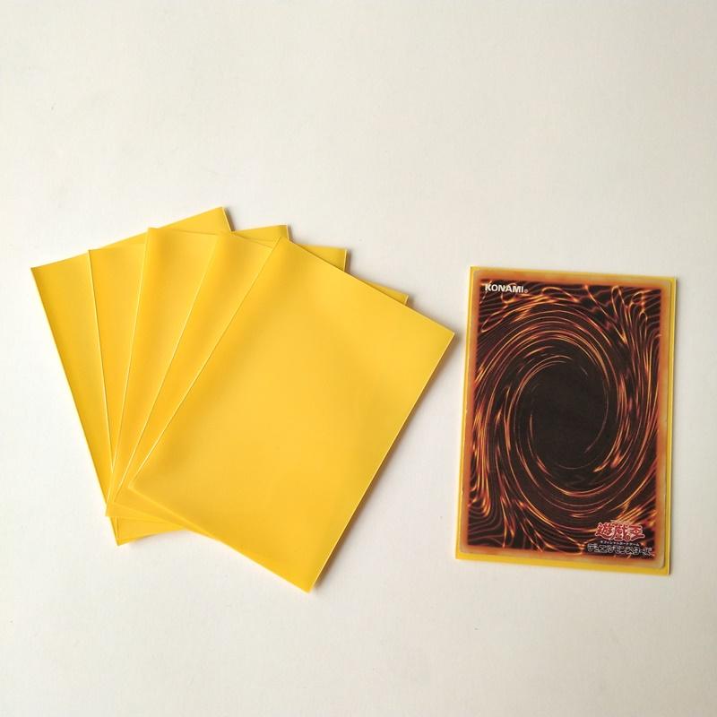 62X89mm Fundas protectoras para tarjetas de juegos de color amarillo sólido YGO tamaño YGO sólido