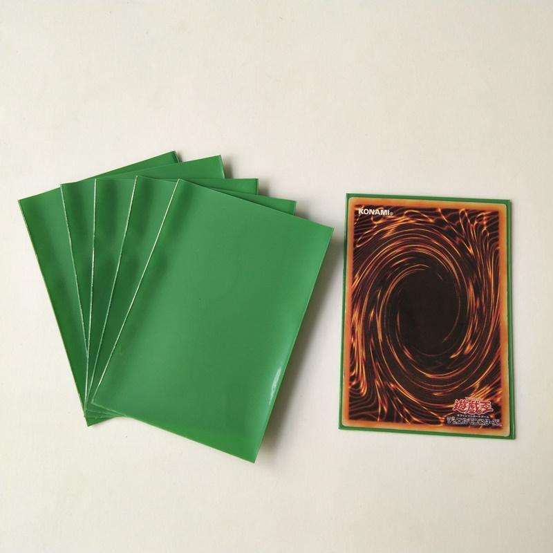 Fundas de protector de cubierta mate de color verde para tarjeta de juego de tamaño japonés 60x87 mm