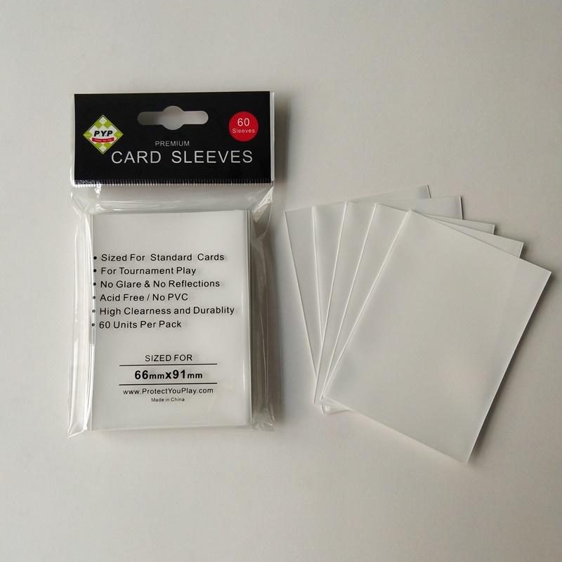 Protectores de cubierta Matt blanco mangas tamaño estándar Pokemon MTG
