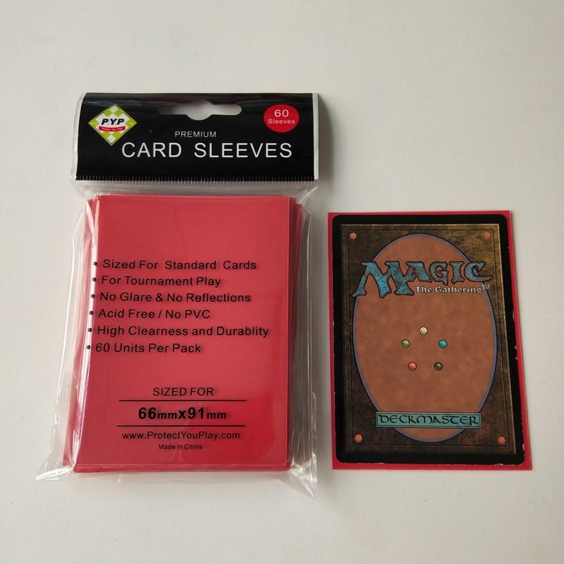 66x91 mm Sólido Rojo Tamaño estándar MTG / Pokemon Juegos de cartas Cubierta protectores