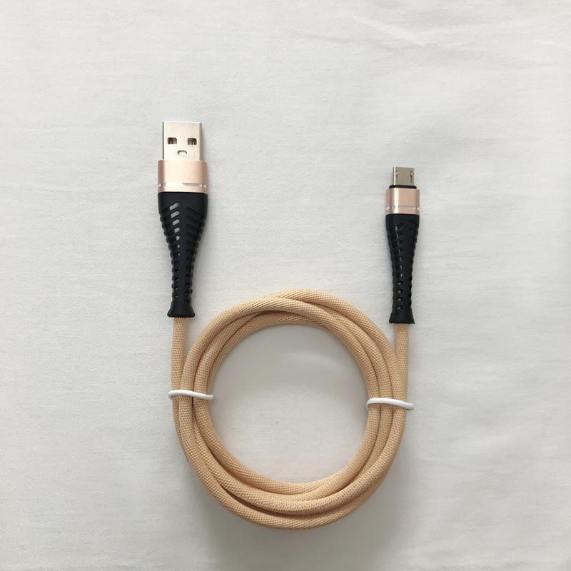 Cable de datos USB libre de enredos Cable de conexión sin cables de 3,0 A para micro USB, tipo C, carga de rayos de iPhone y sincronización