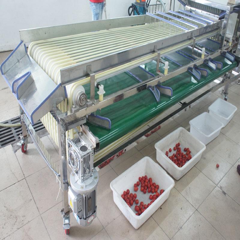 Análisis del flujo de trabajo y características del equipo del recolector de frutas.