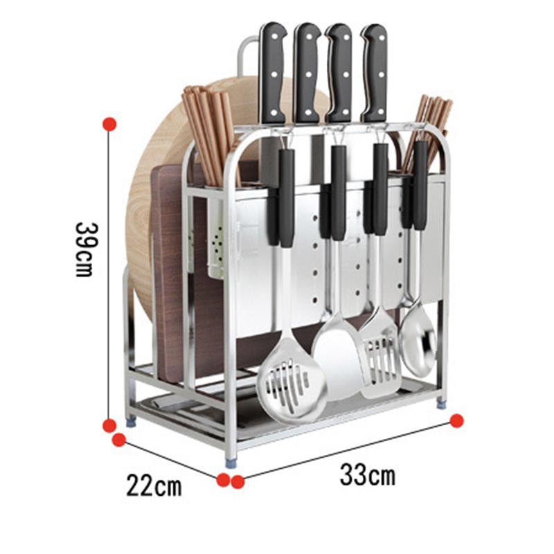 Portacuchillas de cocina de acero inoxidable, porta tablas de cocina, estante de cocina