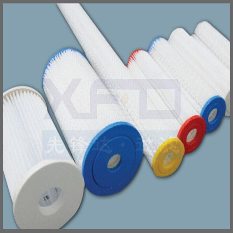 Cartucho de fibra de poliéster plisado