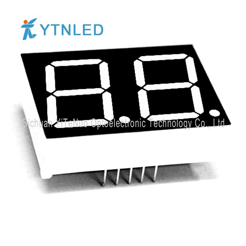 Pantalla LED roja de 7 dígitos y 2 dígitos de 0.8 pulgadas, tubo digital