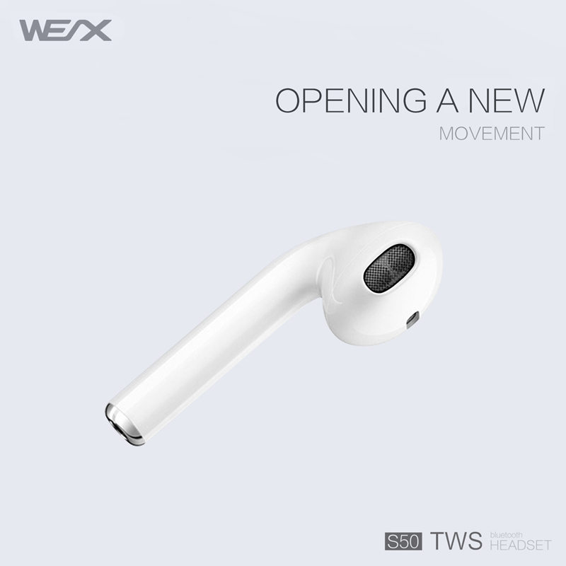 WEX S50 TWS Earphones, verdaderos auriculares estéreo inalámbricos