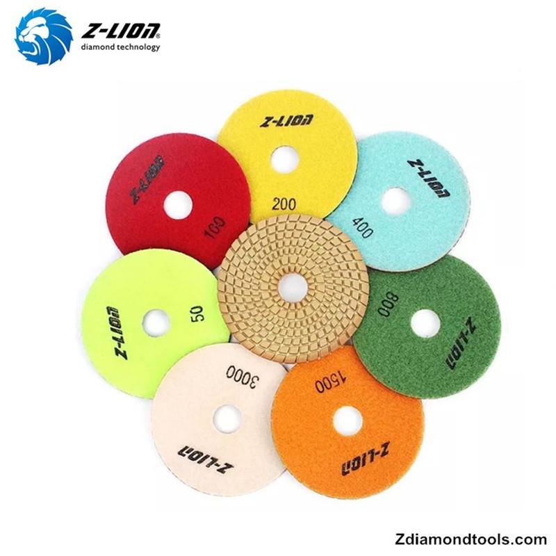 Z-LION ZL-123C Almohadillas de pulido flexibles de resina húmeda para proyectos de piedra