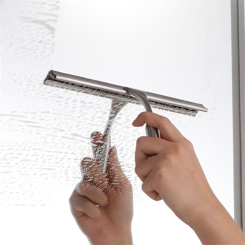Escurridores de acero inoxidable profesionales para ducha, baño, ventana de vidrio con soporte de ganchos de ventosa