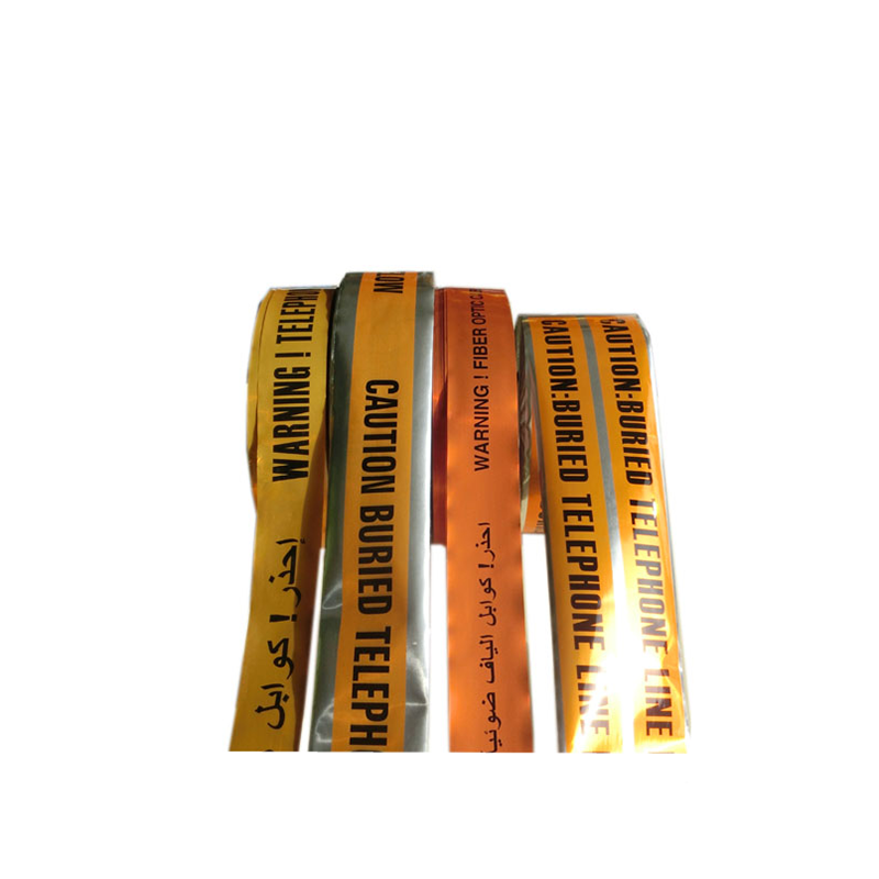 Fabricante de alta calidad por corte de PVC barricada cable subterráneo detectable advertencia cinta de papel de aluminio