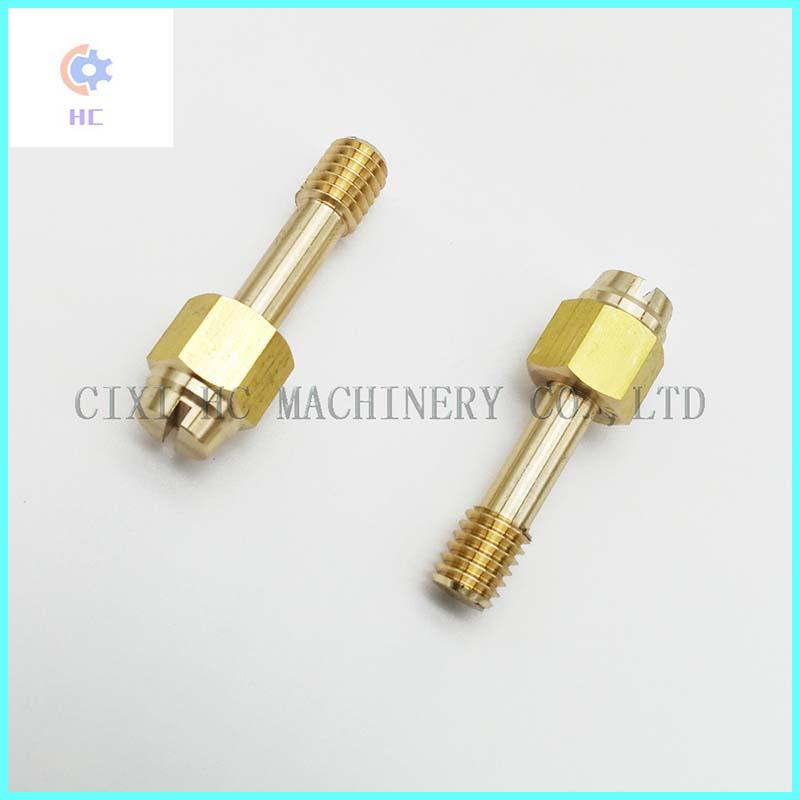 OEM ODM Barato Cobre Latón Precisión Micro piezas de torneado CNC, Piezas de torneado CNC