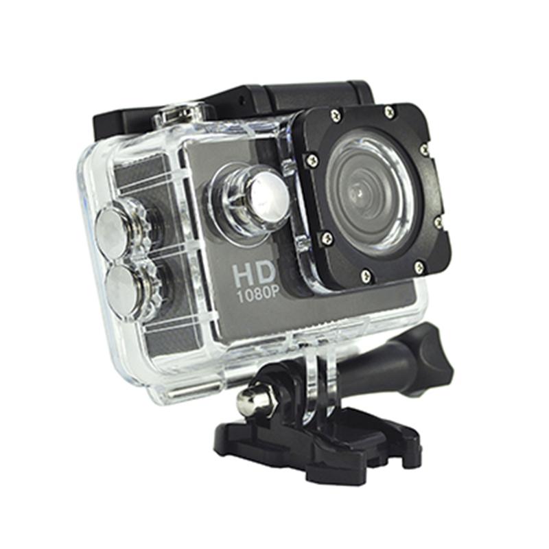 Cámara de acción portátil Real HD 720P Ángulo de visión de 140 grados Pantalla de 2.0 pulgadas D12A