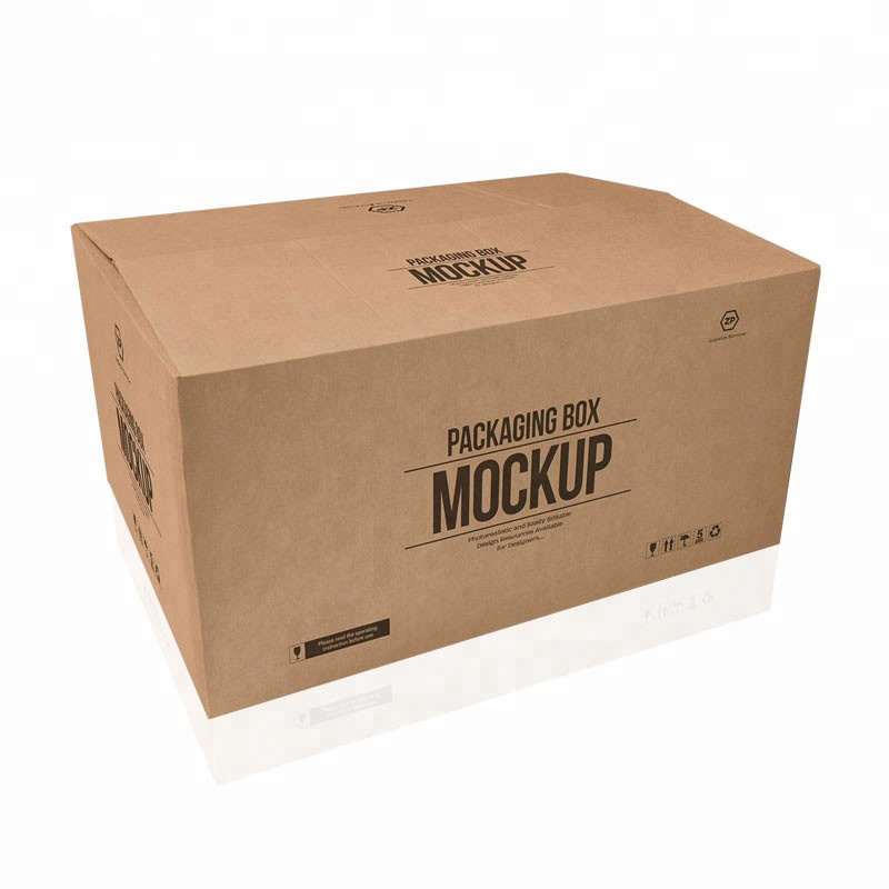 Venta caliente personalizado grande 5 capas logo marca impresa papel kraft envío entrega caja de cartón grande