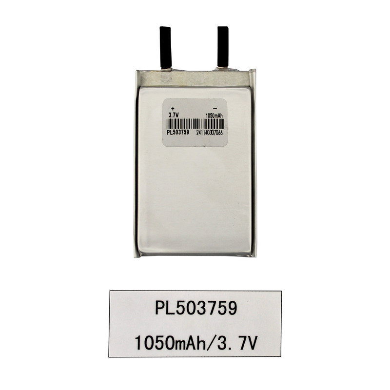 3.7V batería de producto digital de iones de litio Lipo Polymer 1050mAh