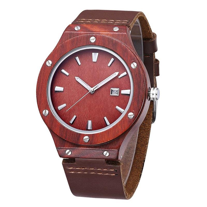 Reloj de pulsera de madera y el mejor reloj de pulsera de cuero para parejas