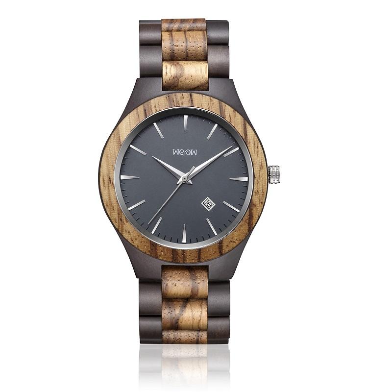 Relojes de madera Sandalia negra Regalo de madera para hombre Modelos vintage 2019 Logotipo personalizado