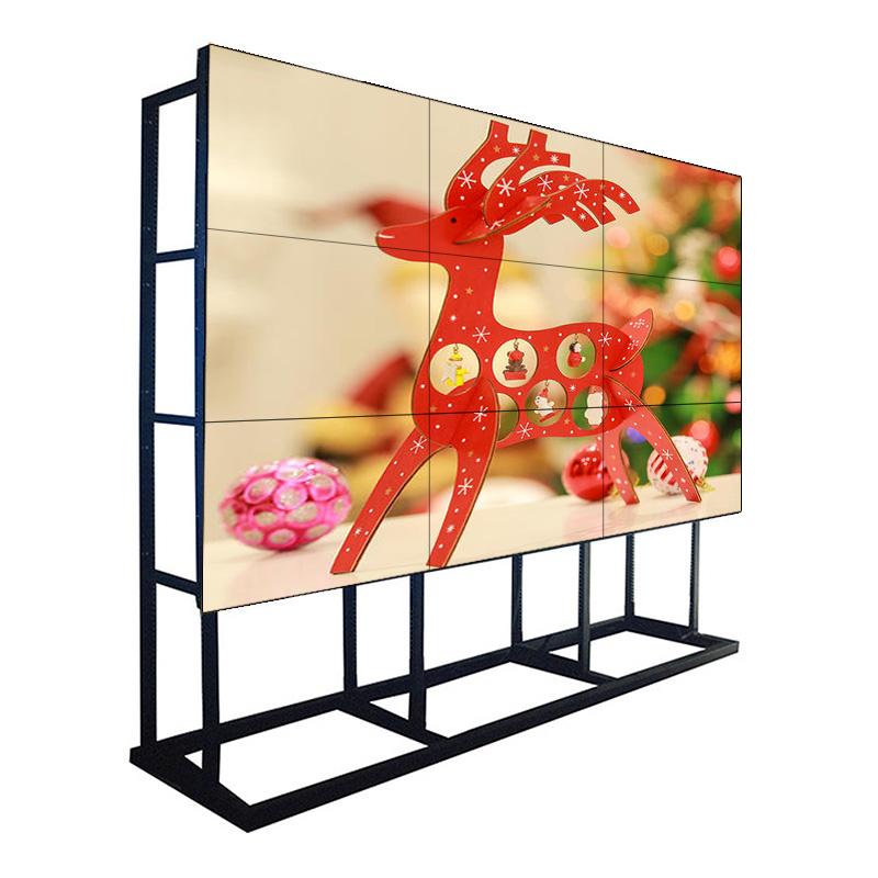 Bisel de 55 pulgadas y 1,7 mm Bisel de 500 NIT Pantalla de monitor de video LCD Samsung para centro de comando, centro comercial y cadena de tiendas