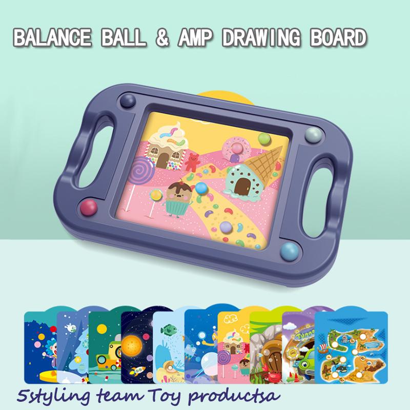 Niños de doble uso concentrados en el entrenamiento de juguetes laberintos juguetes caminantes niños 45 balances niñas puzzle