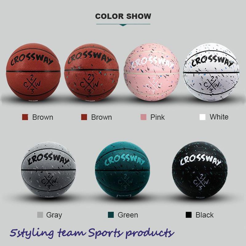 Fabricante clossway baloncesto 5 No.7 Pu absorción de humedad interior y exterior entrenamiento de competición para adultos baloncesto personalización personalizada