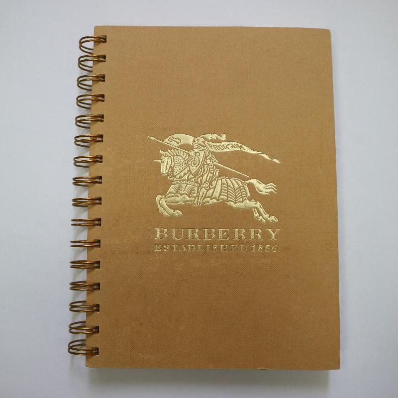 Cuaderno de bobina de sellado dorado estilo retro