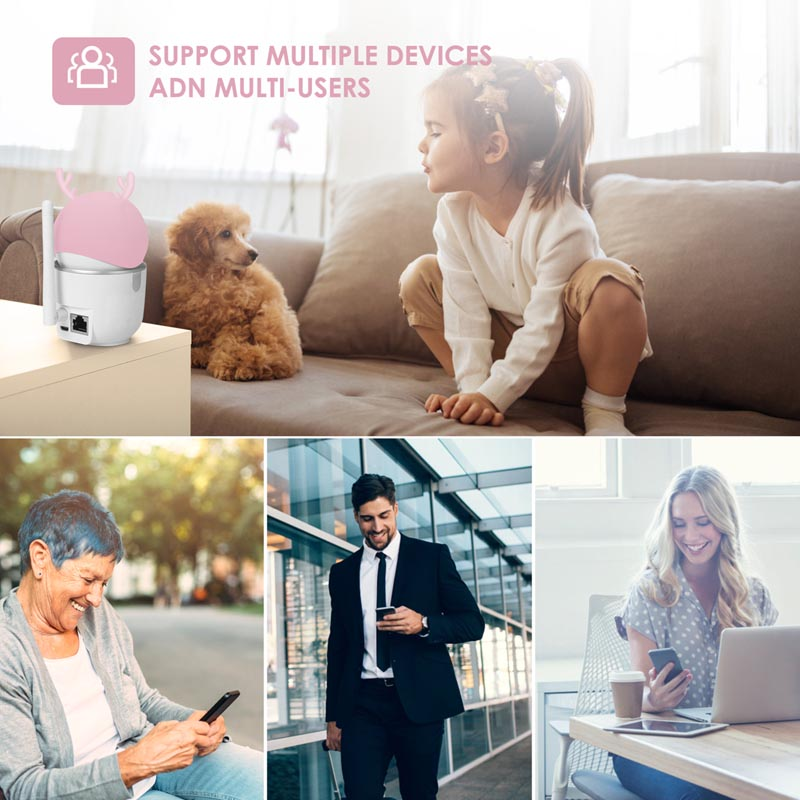2mp 1080p hogares inteligentes de alta definición ai WiFi Windows IP cam